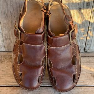 Dr. Martins Air Cushion Sole Brown Sandals Size 12